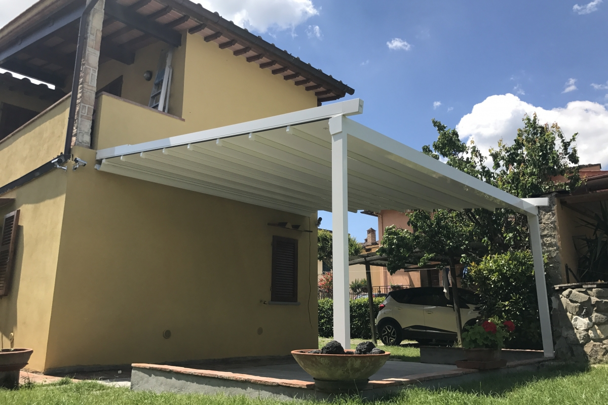 Pergola total white 500 x 450 motorizzata